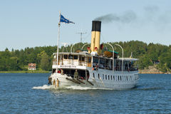 Coal-fired passenger steamer Blidösund Stock Images