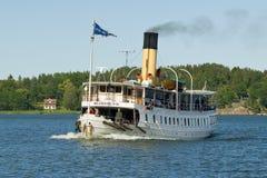 Coal-fired passenger steamer Blidösund Stock Images