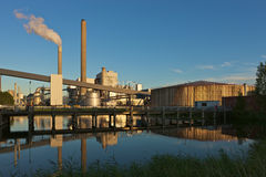 Coal fired power plant. Amsterdam, harbour, Hemweg electricity plant at sunset Stock Photos