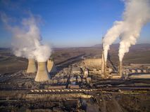 Coal-fired power plant stock images