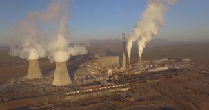 Coal-fired power plant stock footage