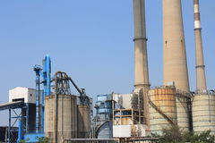 Coal-fired power plant Royalty Free Stock Images