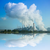 Coal fired power plant Royalty Free Stock Photos