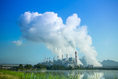 Coal fired power plant Stock Photos