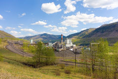 A coal-fired power plant in northern canada Royalty Free Stock Images