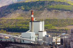 A coal-fired power plant in northern canada Royalty Free Stock Photos
