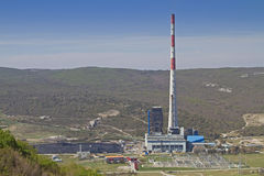 Coal-fired power plant Plomin Stock Photos