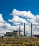 Western US Coal Fired Power Plant Stock Photo