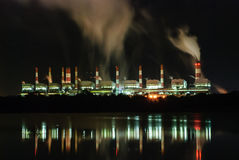 Coal fired power plant Stock Images