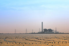 Coal-Fired Power Plant Royalty Free Stock Photos