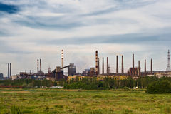 Coal fired power plants royalty free stock photos