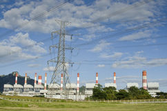 Coal-fired power plants Lampang Thailand Stock Photography