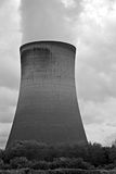 Coal fired power station cooling tower Stock Images