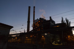 Coal Fired Power Station at Dusk Stock Photography
