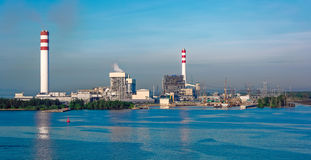Coal-fired power station Royalty Free Stock Photos
