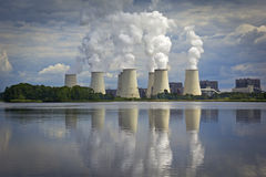 Coal-fired Power Station, Kraftwerk am See Royalty Free Stock Photo