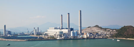 Coal-fired power station Royalty Free Stock Image