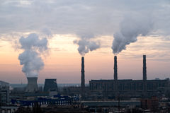 Coal fired power station powerplant Stock Images