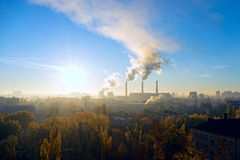 Coal fired power station powerplant Royalty Free Stock Photography