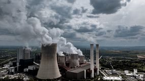 Coal fired power station RWE Germany Heavy Industry royalty free stock image