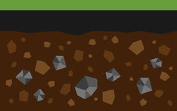 Coal. Flat image of coal under the ground. Eps 10 Stock Image