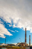 Coal Fossil Fuel Power Plant with Smokestacks Royalty Free Stock Photography