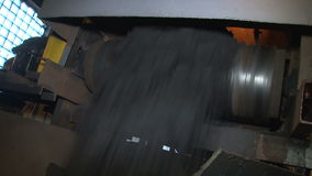 Coal fray on conveyor form a different angle. Coke and Chemicals plant cooler stock video footage