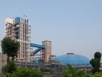 Coal gasification unit. The shell coal gasification process of the device Stock Image