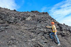 Coal geologist Stock Images