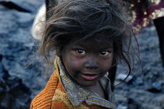 Coal Girl Stock Photo