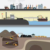 Coal graphic Stock Images