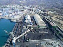 Coal handling terminal. Stock Images