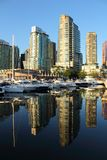 Coal Harbor, Condos and Marina, Vancouver Royalty Free Stock Images