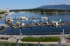 Coal Harbor Floatplane Base, Vancouver Stock Photo