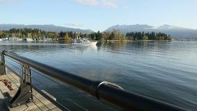 Coal Harbor Luxury Yacht, Vancouver Stock Photography
