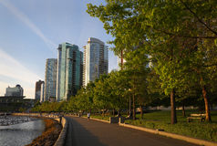 Coal Harbor Seawall Path, Vancouver Stock Photo