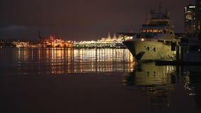 Coal Harbor Seawall Twilight, Vancouver stock video footage