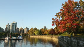 Coal Harbor Seawall, Vancouver Royalty Free Stock Photography