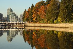 Coal Harbor, Stanley Park, Vancouver Royalty Free Stock Images
