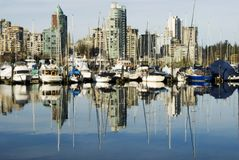 Coal Harbor, Vancouver Stock Images