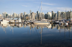 Coal Harbor Vancouver, Canada Royalty Free Stock Images