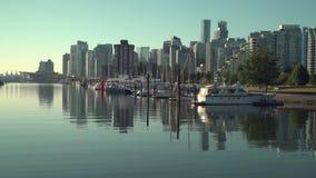 Coal Harbor, Vancouver Cityscape 4K UHD stock footage