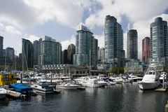 Coal Harbour. Downtown Vancouver, British Columbia stock photography