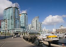 Coal Harbour. Apartment Buildings. Downtown of Vancouver royalty free stock photo