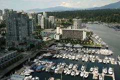 Coal Harbour Aerial Royalty Free Stock Image