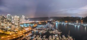 Coal Harbour night Stock Photo