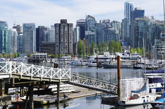 Coal Harbour in Vancouver Stock Photo