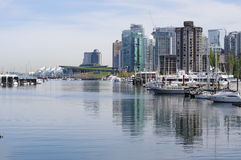 Coal Harbour in Vancouver Royalty Free Stock Photo