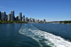 Coal harbour view from cruise ship stock photo