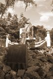 Coal harvester for mining black coal - sepia color stock images